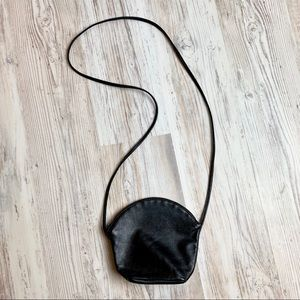 Handbags - Vintage boho black leather mini crossbody purse